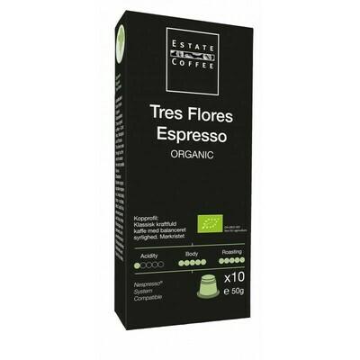 """Estate Coffee """"Tres Flores Espresso"""" Capsules, 10pcs"""
