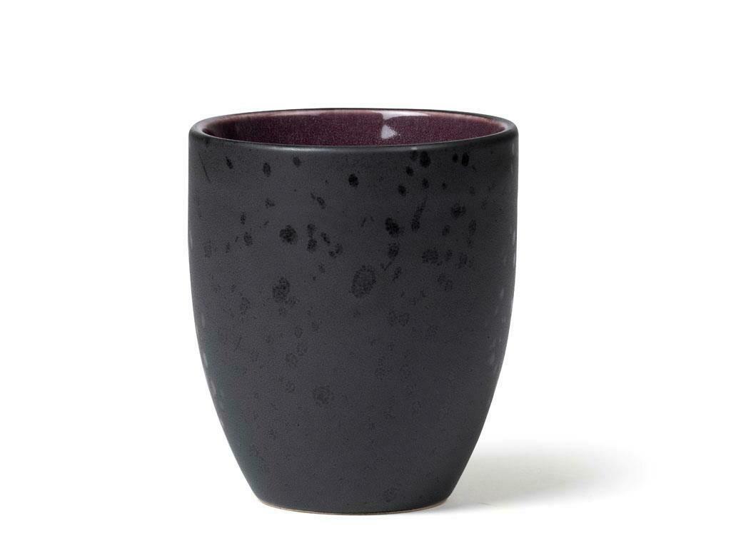 Mug, Stoneware, Black/Lilac