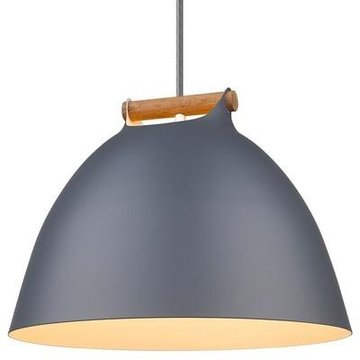 ÅRHUS Pendant Ø40 E27,  Grey / Wood