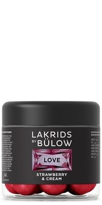 LAKRIDS Liquorice SMALL, LOVE STRAWBERRY & CREAM, 125g