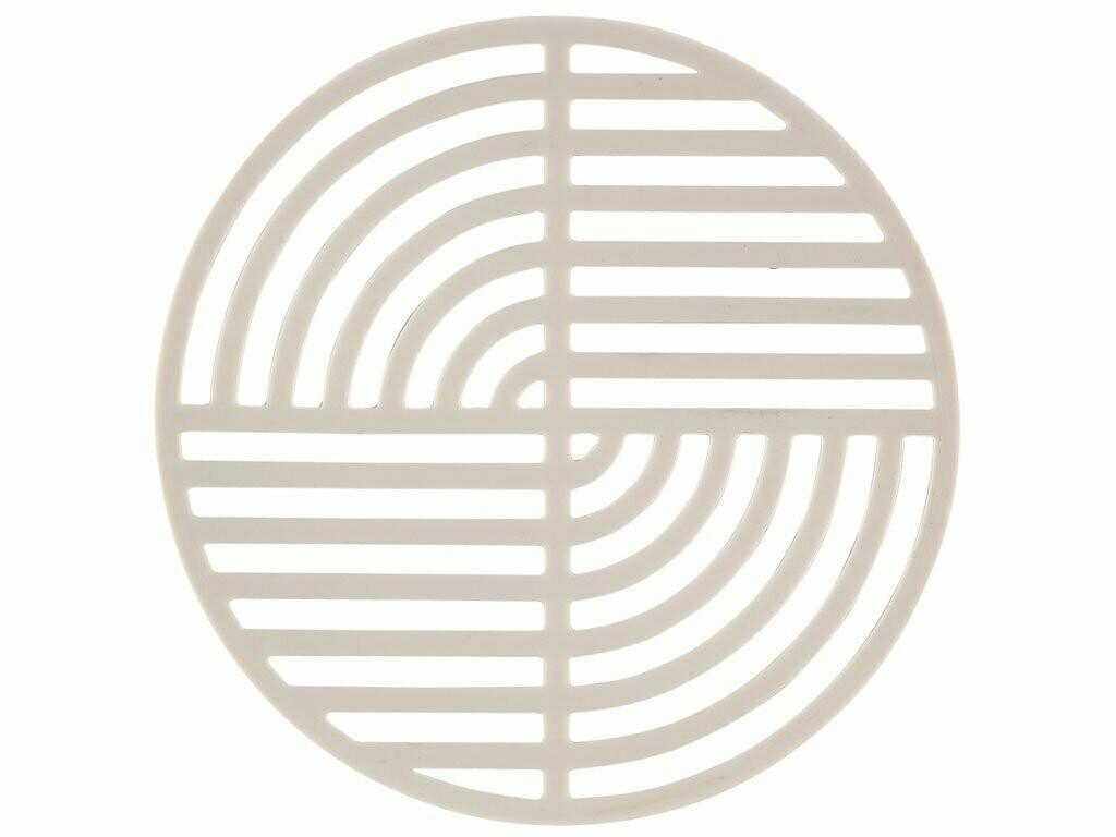 Silicone Circle Trivet, Warm Grey