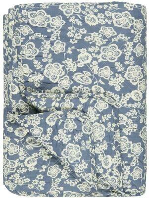 Quilt blue w/flowers