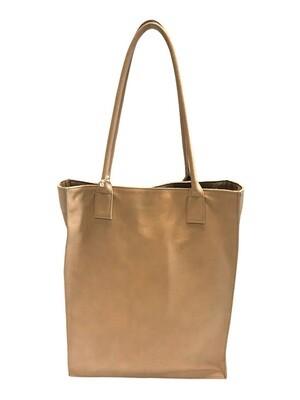 Tote bag with handles, beige