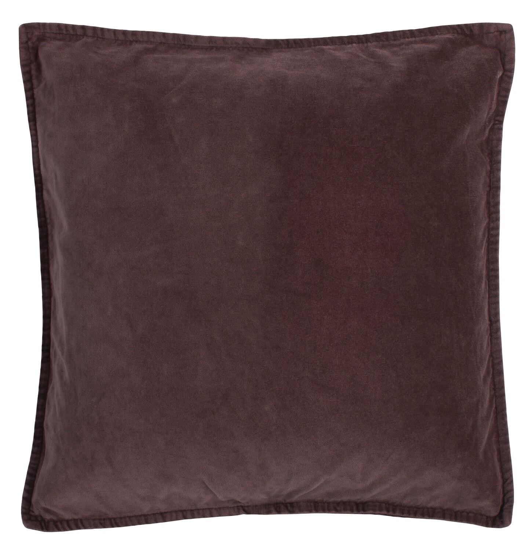 Cushion cover, velvet,  aubergine