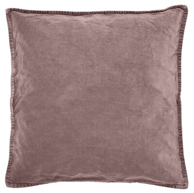 Cushion cover, velvet, malva