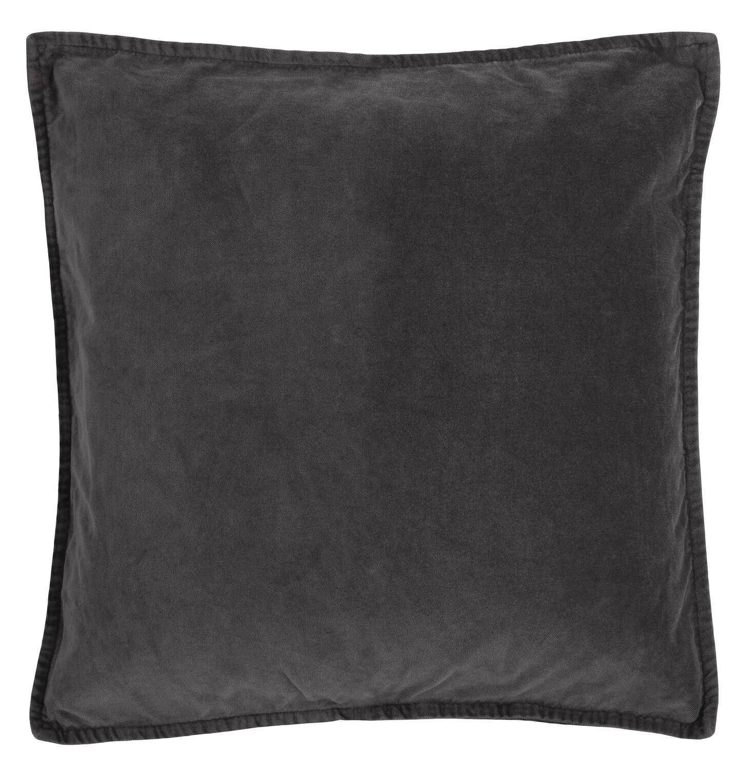 Cushion cover, velvet,  anthracite