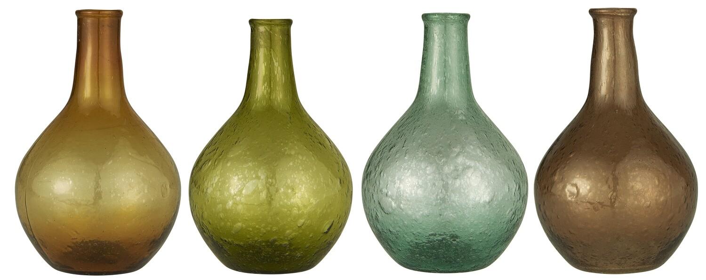 Vase long neck, UNIQUE, Moss green