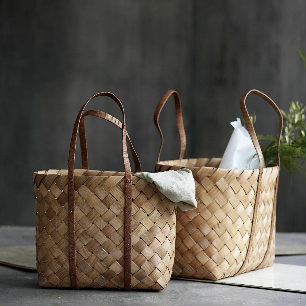 Bags (Set of 2), Beach, Brown