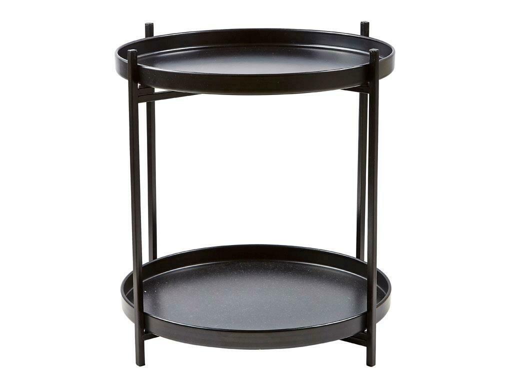 Tray Table, Black-Metal