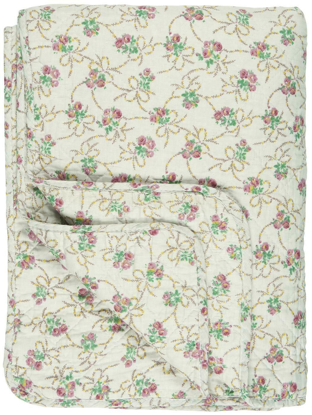 Quilt beige w/roses