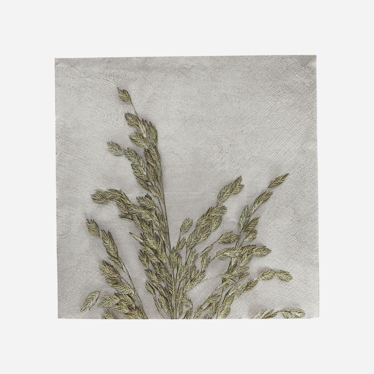 Napkins 'Grass 1', Light grey