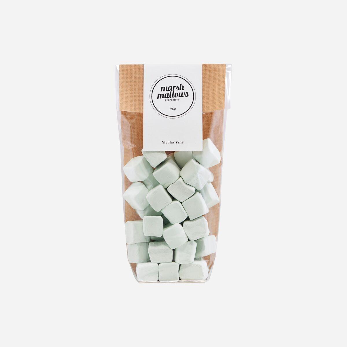 Marshmallows, mint, 125g