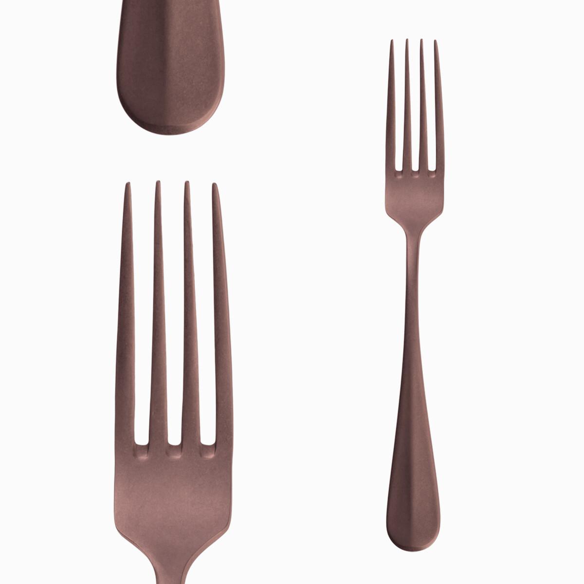 """Table Fork, """"Baguette"""" Vintage Copper"""