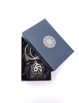 Sun Symbol pendant with chain