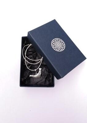 Lucky bird pendant with chain