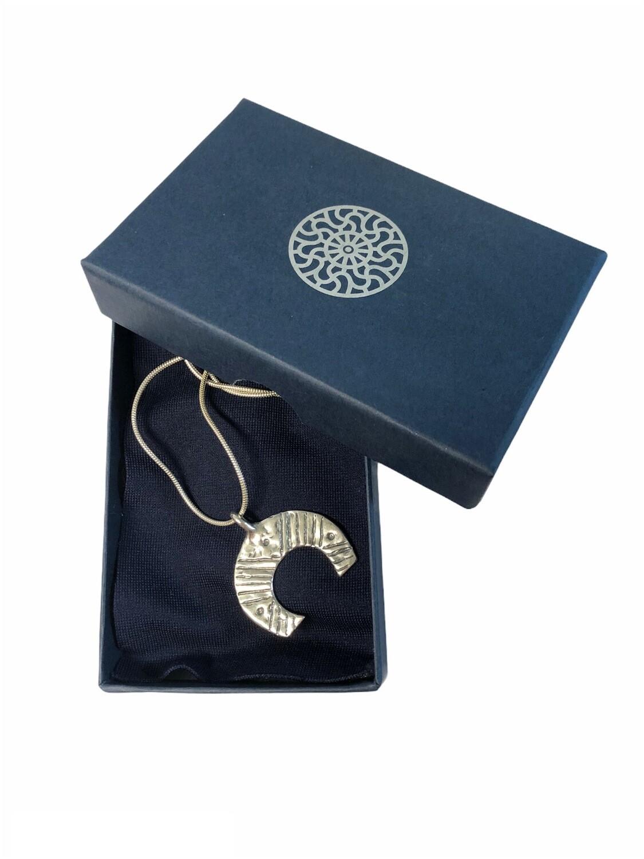 Moon symbol pendant with chain