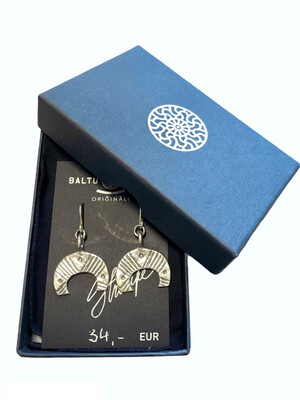 Earrings with moon symbol