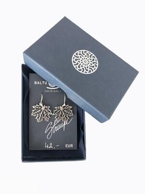 Silver maple earrings