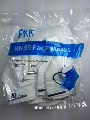 KN95 Respirator Mask with Valve - 10 Pack