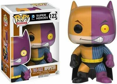 POP DC HEROES BATMAN AS TWOFACE IMPOPSTER VINYL FIGURE #123
