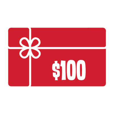 $100.00 GIFT CARD w/ $20.00 BONUS BUCKS!