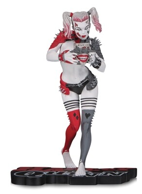 HARLEY QUINN - RED WHITE & BLACK SERIES - GREG HORN STATUE