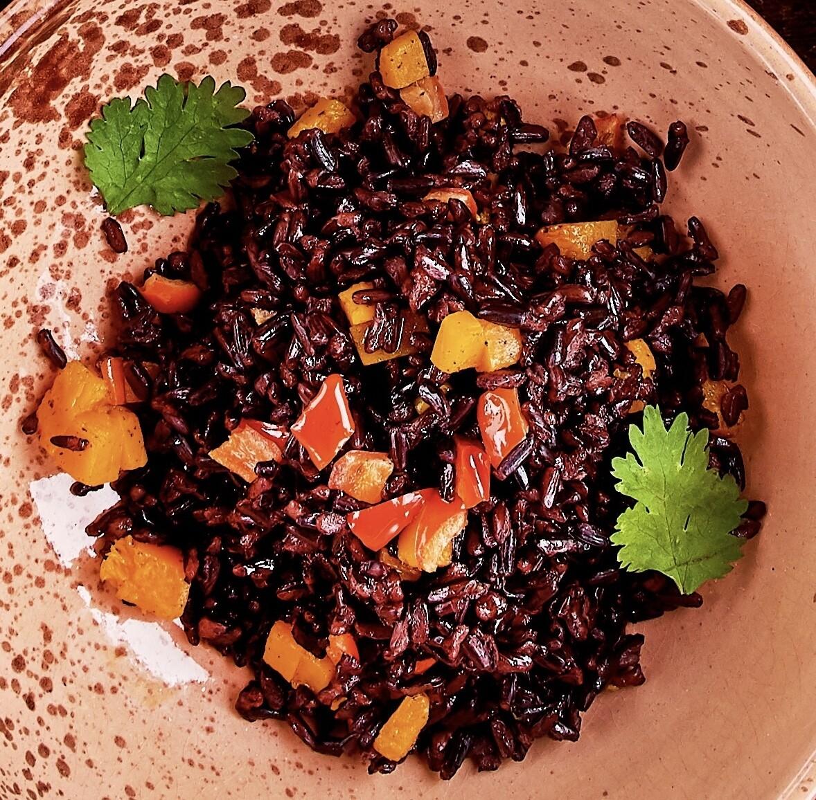 Южный рис с тыквой и болгарским перцем