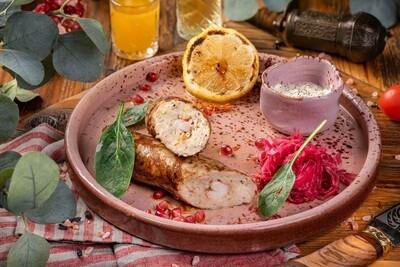 Люля кебаб из судака с креветками
