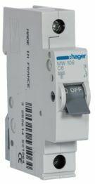 MW106-Disjuntor 1P 6A C 3kA 1M