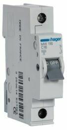 MW116-Disjuntor 1P 16A C 3kA 1M