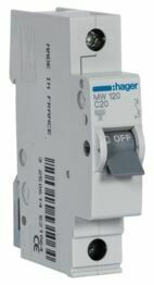 MW120-Disjuntor 1P 20A C 3kA 1M