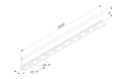 CT60/D/3/PG-Separador para caminhos de cabos