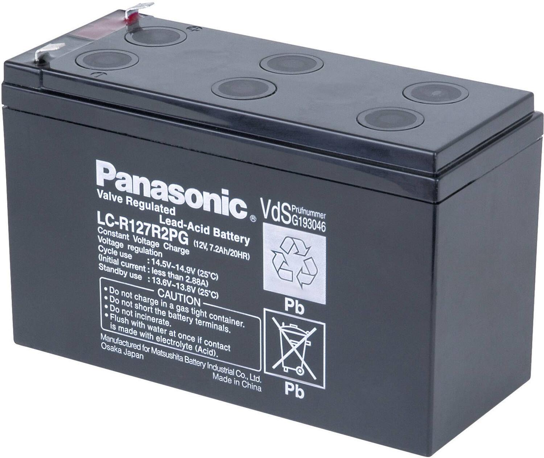 LCR12V  7,2Ah-BATERIA  PANASONIC