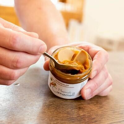 Caramell im Glas mit Meersalz  - Löffel rein und los!