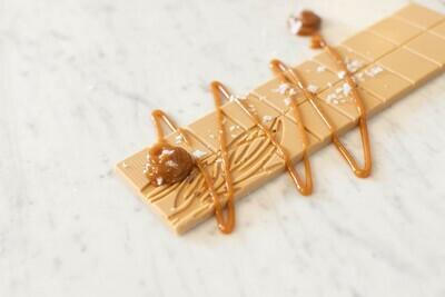 Schokolade - Caramell mit Meersalzflocken - 39 % Kakao