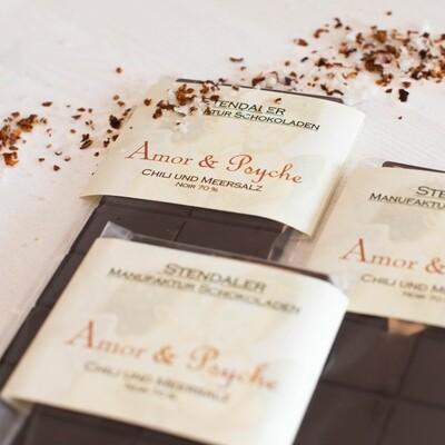 Schokolade - Amor & Psyche - Chili trifft auf Meersalz