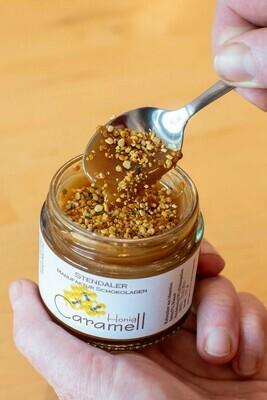 Caramell im Glas - Honig mit Blütenpollen - Löffel rein und los