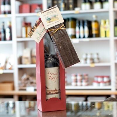 Präsent rot - Dein Genießergeschenk mit Rotspon und Kräuterschokolade