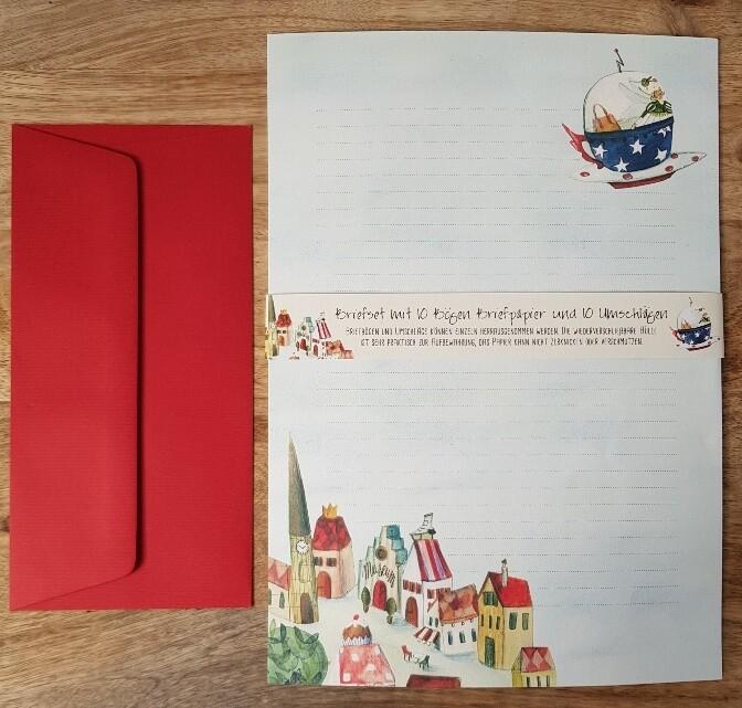 Schreibblätter mit Briefumschlägen