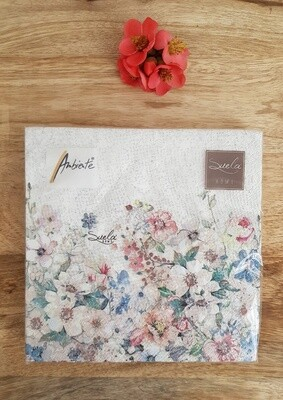 Servietten mit Blumendekor