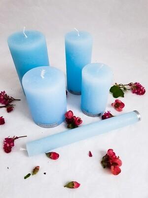 Kerzen pastelblau