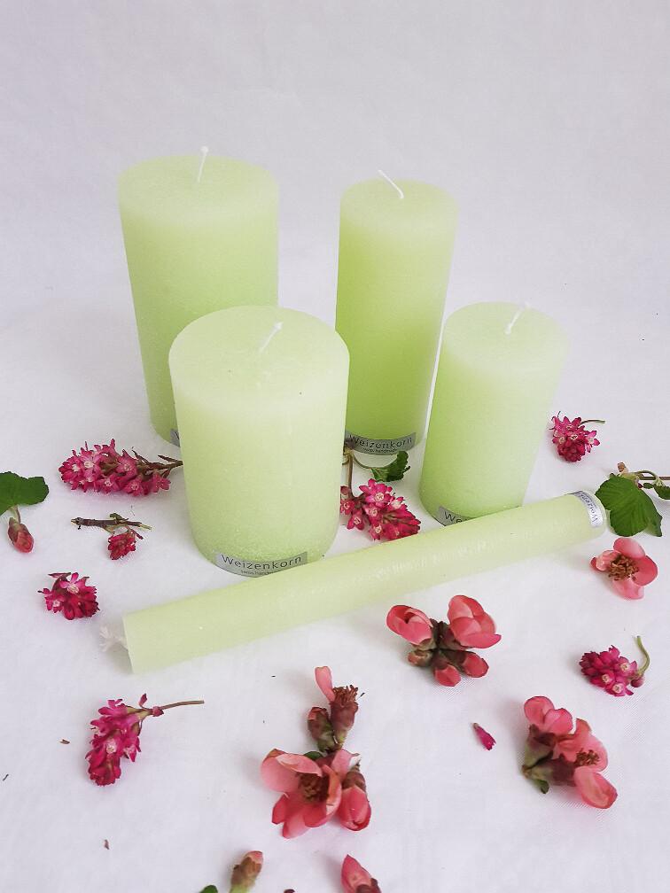 Kerzen pastelgrün
