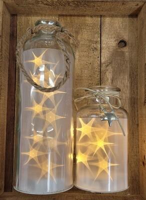 Glasflaschen mit LED
