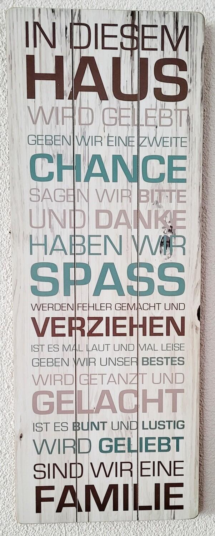 Wandbild / In diesem Haus