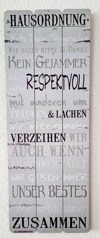Wandbild / Zu Hause