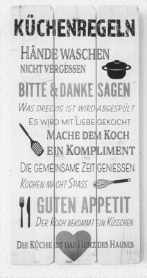 Wandbild / Küchenregel