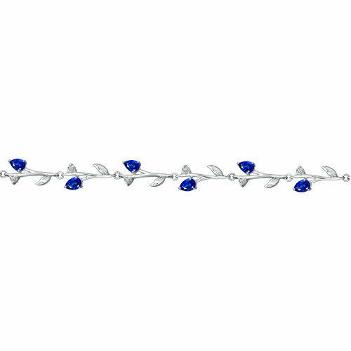 Браслет из серебра с синими фианитами