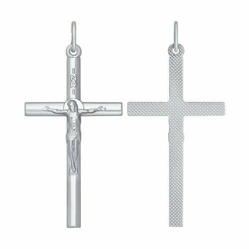 Католический крест из серебра