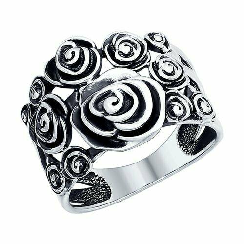Кольцо из чернёного серебра