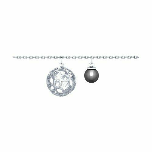 Браслет из серебра с жемчугом Swarovski